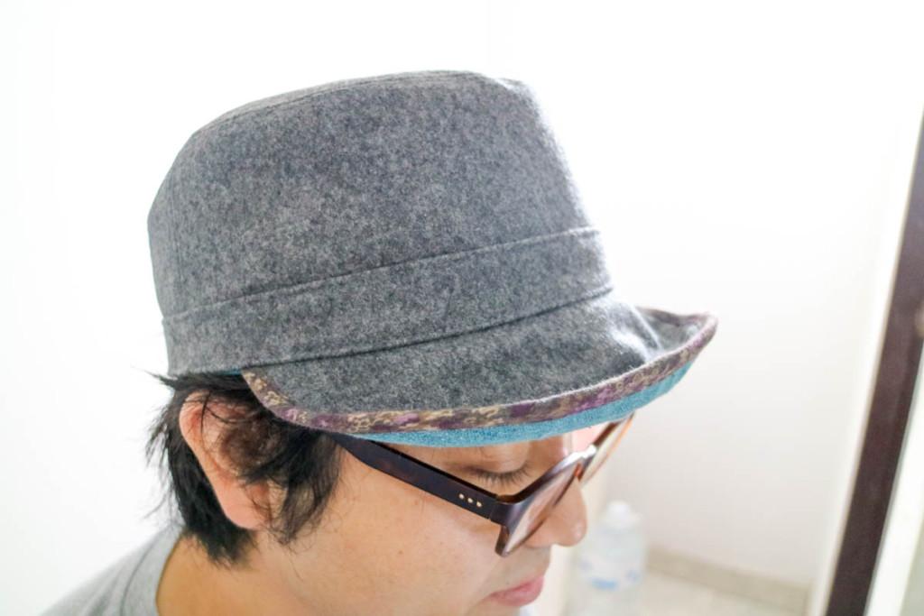 購入した帽子1