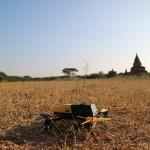 ミャンマーのバガン遺跡でドローン「Parrot Bebop Drone」の飛行練習!